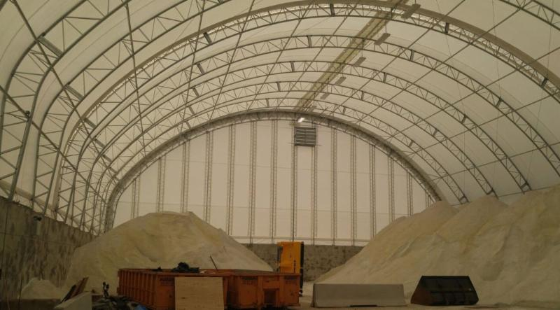 interior view of a big dome storage